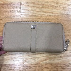 Tan leather Cole Haan Wallet zip around